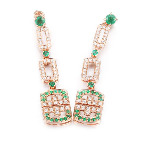 natural Emerald Earring