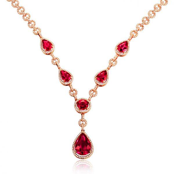 natural Tourmaline Necklace