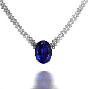 natural Tanzanite Necklace