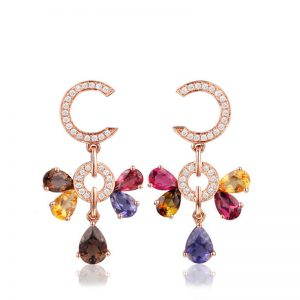 natural Colored Stones Earring