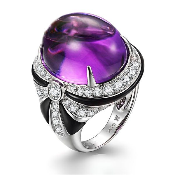 natural Amethyst Ring
