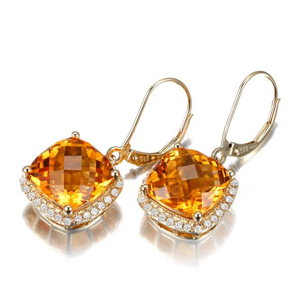 natural Citrine Earring
