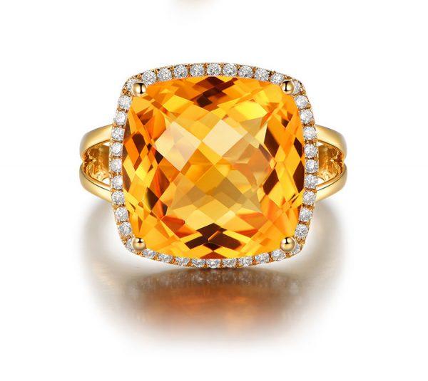 natural Citrine Ring