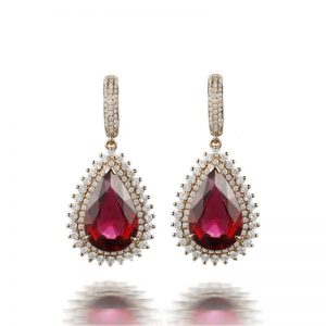 natural Tourmaline Earring