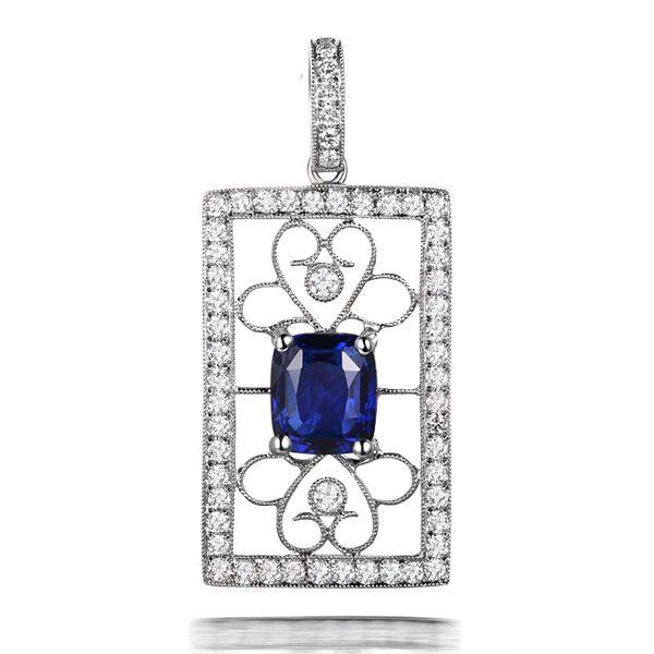 natural Sapphire Pendant