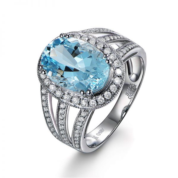 natural Aquamarine Ring