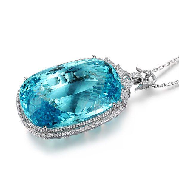 natural Aquamarine Pendant