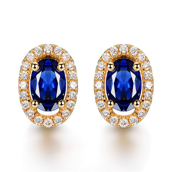 natural Sapphire Earring