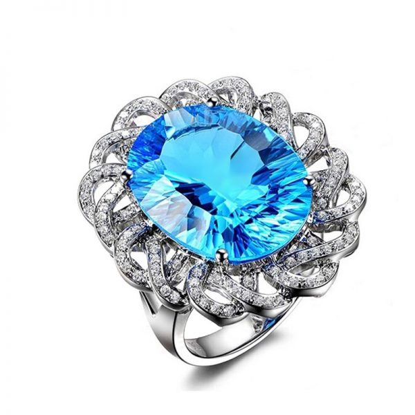 natural Topaz Ring