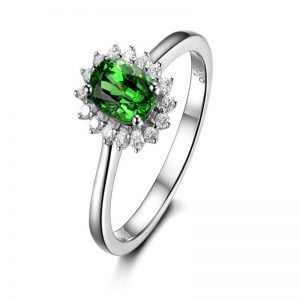 natural Tsavorite Ring