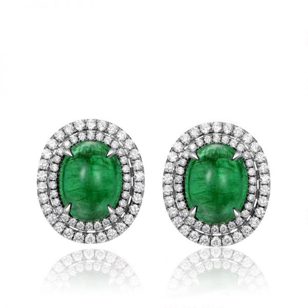 natural Emerald Earring