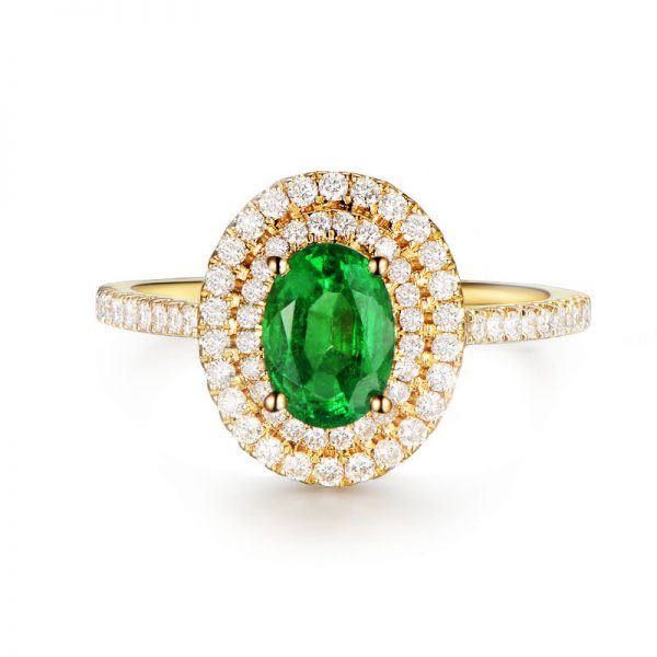 natural Emerald Ring