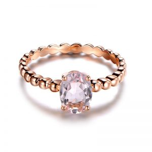natural Morganite Ring