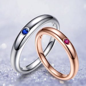 0.5ct Natural Blue Ruby/Sapphire in 18K Gold Ring