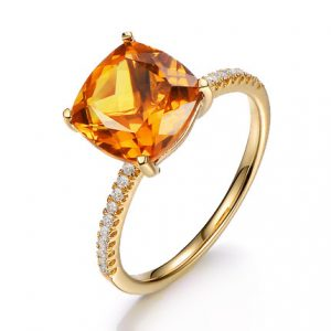 natural Citrine Ring