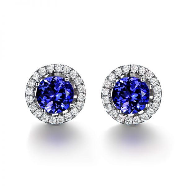 natural Tanzanite Earring