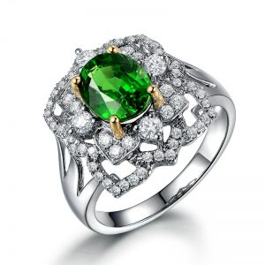 natural Tsavorite Ring