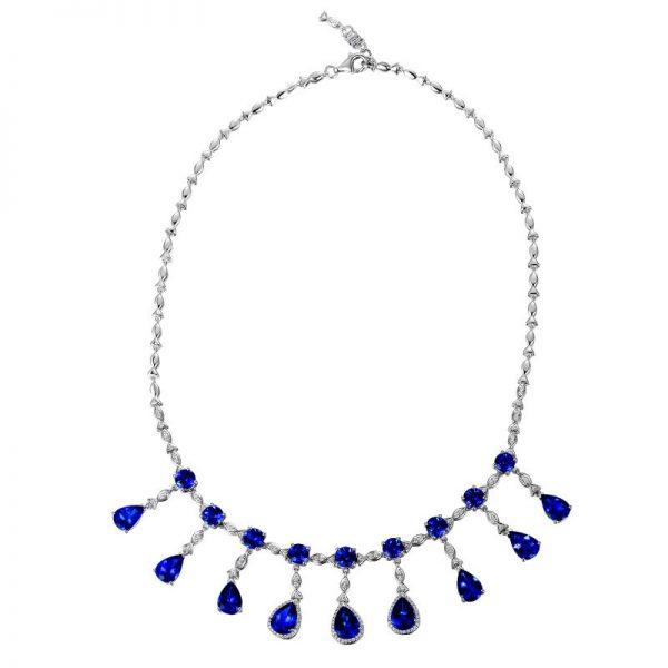 natural Tanzanite Necklace