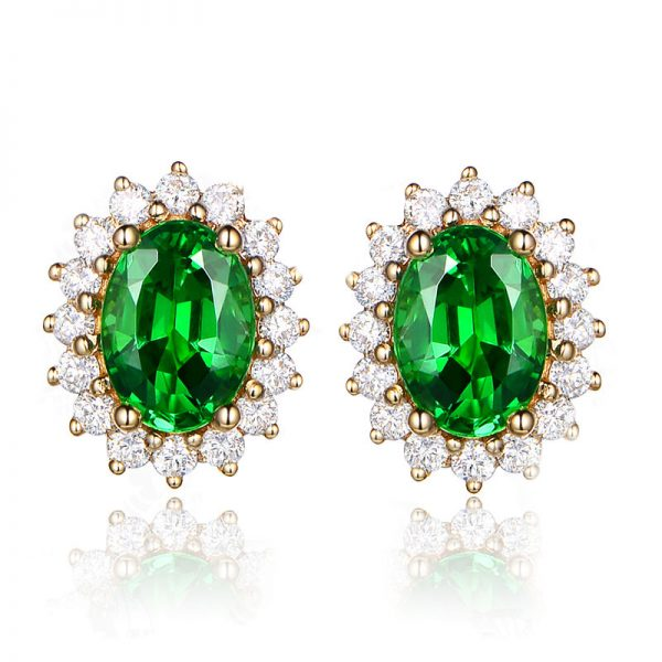 natural Tsavorite Earring