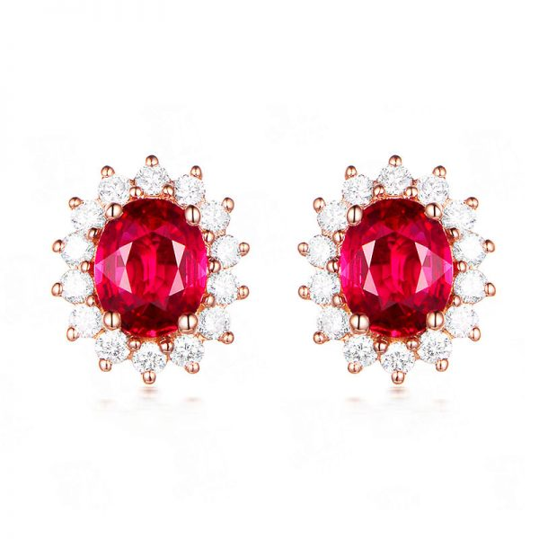 natural Ruby Earring