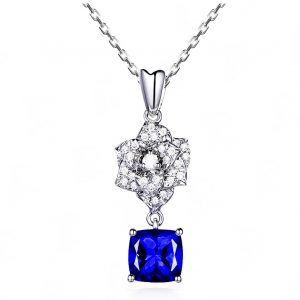 1.65ct Natural Blue Tanzanite in 18K Gold Pendant