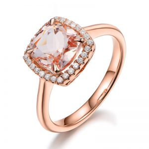 1.8ct Natural Peach Morganite in 18K Gold Ring