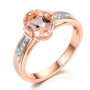 1.65ct Natural Peach Morganite in 18K Gold Ring