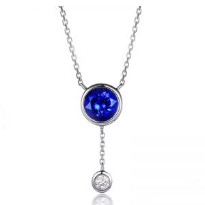 1.02ct Natural Blue Tanzanite in 18K Gold Pendant