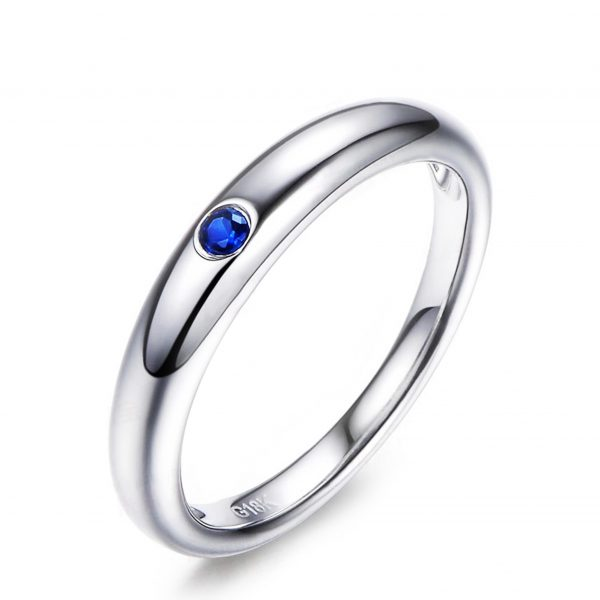 0.5ct Natural Blue Sapphire in 18K Gold Ring