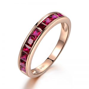 1.03ct Natural Red Ruby in 18K Gold Ring
