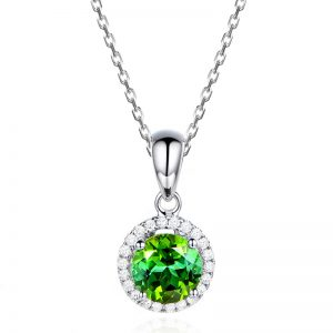 1.01ct Natural Green Tourmaline in 18K Gold Pendant