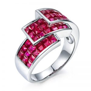 3.55ct Natural Red Ruby in 18K Gold Ring