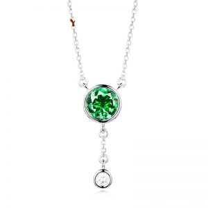 0.83ct Natural Green Tourmaline in 18K Gold Pendant