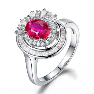1.5ct Natural Red Ruby in 18K Gold Ring
