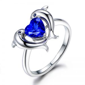 1.35ct Natural Blue Tanzanite in 18K Gold Ring