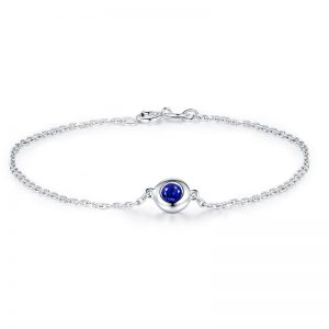 0.5ct Natural Blue Sapphire in 18K Gold Bracelet