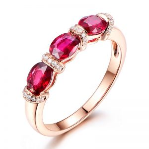 1.35ct Natural Red Ruby in 18K Gold Ring