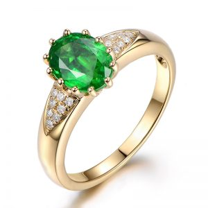 1.8ct Natural Green Tsavorite in 18K Gold Ring