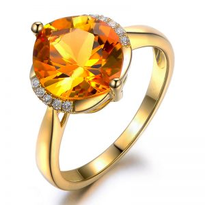 2.5ct Natural Yellow Citrine in 18K Gold Ring