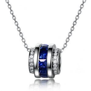 2.15ct Natural Blue Sapphire in 18K Gold Pendant