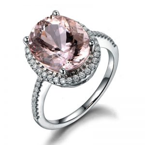 4.83ct Natural Peach Morganite in 18K Gold Ring