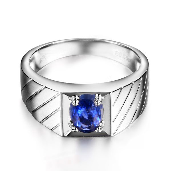 1.29ct Natural Blue Sapphire in 18K Gold Ring