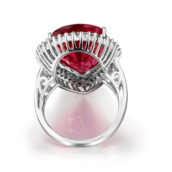 11.71ct Natural Red Tourmaline in 18K Gold Ring