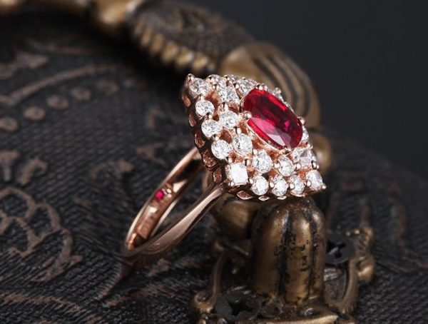 1.56ct Natural Red Ruby in 18K Gold Ring