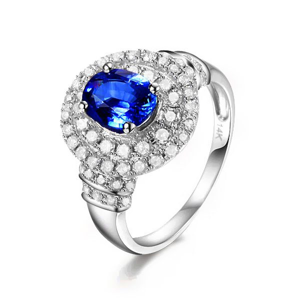 1.87ct Natural Blue Sapphire in 14K Gold Ring