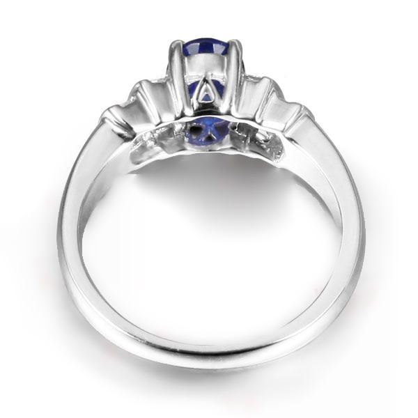 1.52ct Natural Blue Sapphire in 18K Gold Ring