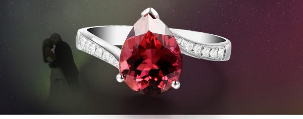 2.51ct Natural Red Tourmaline in 18K Gold Ring