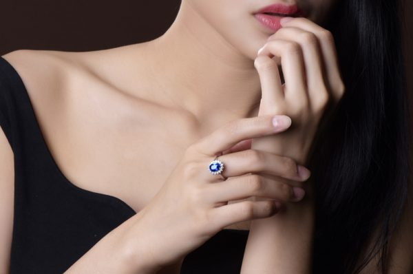 2.29ct Natural Blue Sapphire in 18K Gold Ring