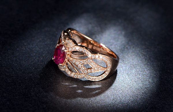 1.22ct Natural Red Ruby in 18K Gold Ring