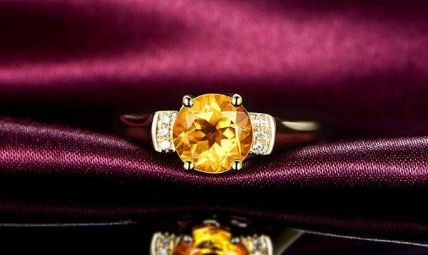 1.77ct Natural Yellow Citrine in 18K Gold Ring